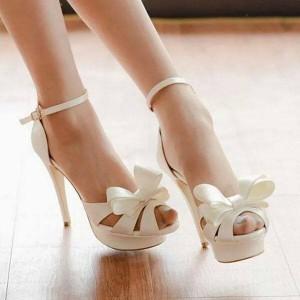 Bilekten Platform Gelin Ayakkabısı